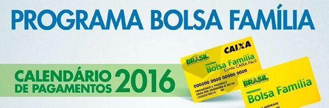 Calendário do Bolsa Família 2016