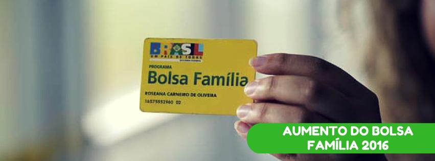 Aumento do Bolsa Família 2016