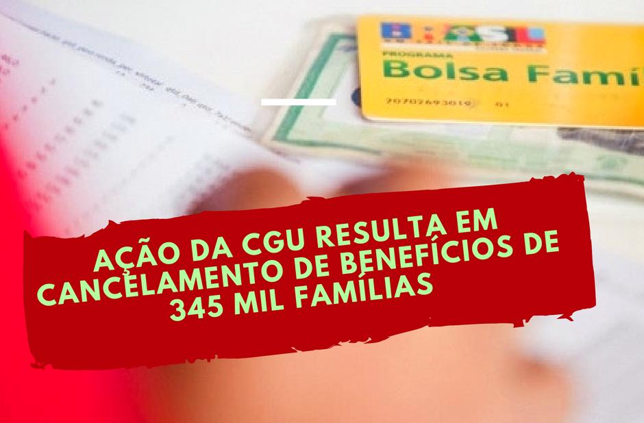 Ação da CGU resulta em cancelamento de benefícios de 345 mil famílias