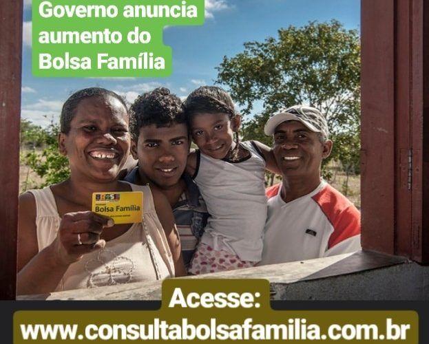 Governo anuncia aumento do Bolsa Família