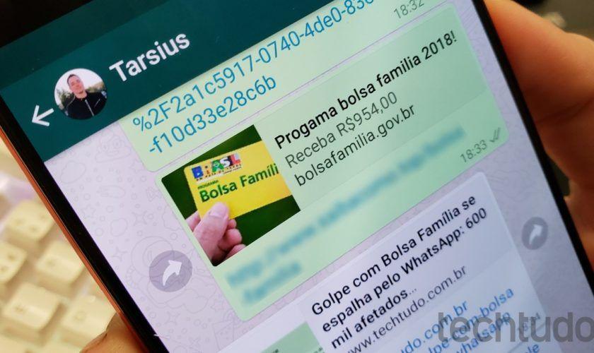 Atenção: Golpe do Bolsa Família circula no whatsapp