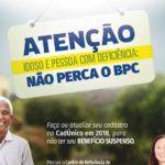 Governo lança calendário para notificação dos beneficiários do BPC