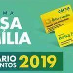 Calendário do Bolsa Família 2019