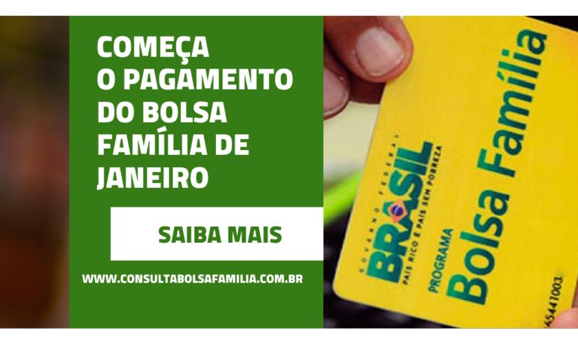 Começa Pagamento do Bolsa Família de Janeiro