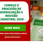 Começa a Ação de Atualização Cadastral 2020