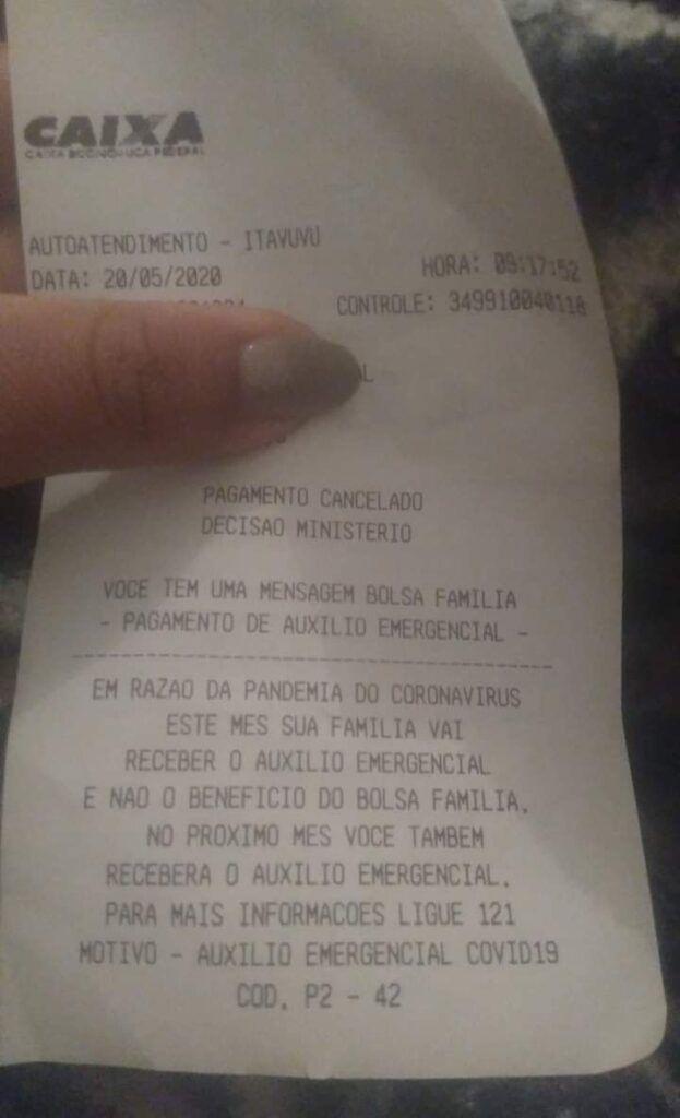 Pagamento Cancelado Decisão do Ministério